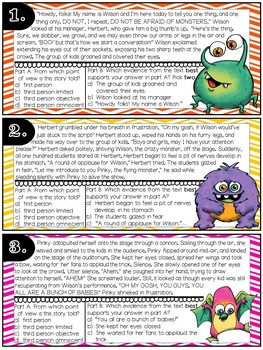 Point of View Story Task Cards: Monster Themed