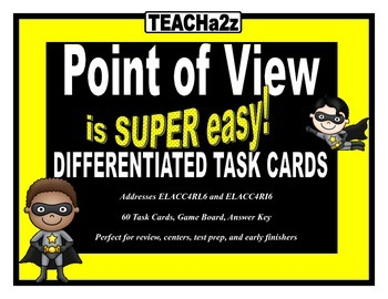 Point of View Task Cards - 60 Differentiated Cards with Ga