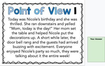 Point of View Task Cards *Digital Option Included