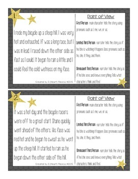 Point of View Task Cards {Freebie}