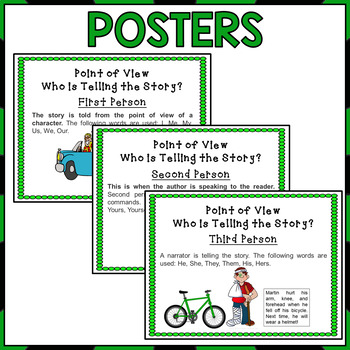 Point of View Task Cards and Posters