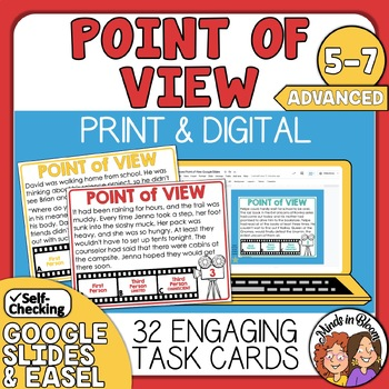 Point of View Task Cards Advanced set with Digital Boom Card Option