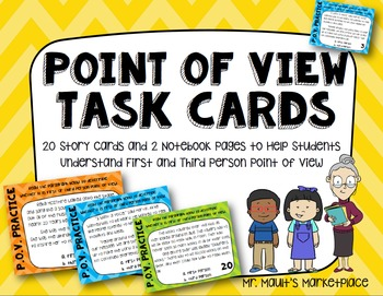 Point of View Task Cards for Grades 3-6: 20 Story Cards an