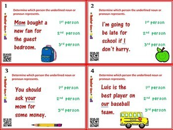 Point of View Task Cards w/ QR Codes - 24 Cards!