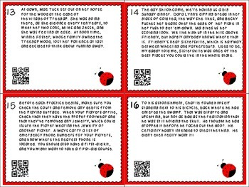 Point of  View Task Cards with and without QR Codes