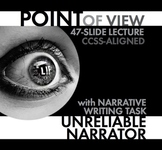 Point of View, Unreliable Narrator, Fun Lecture and Narrative Writing Activity