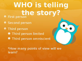 Point of View - Who is Telling the Story?