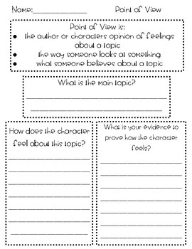 Point Of View Worksheets Teaching Resources | Teachers Pay Teachers