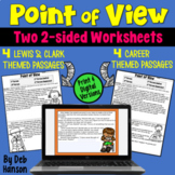 Point of View Worksheets: Careers & Lewis and Clark passages
