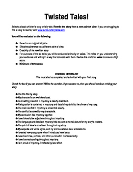 Point of View Writing Assignment