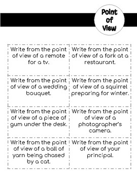 Point of View Writing Project