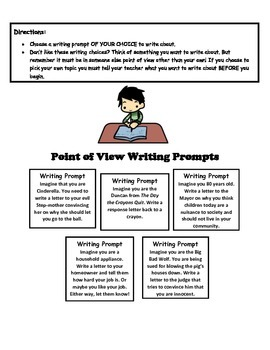Point of View Writing Prompts