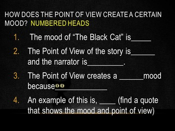 Point of View and Mood PowerPoint Presentation and Notes