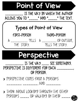 Point of View and Perspective Graphic Organizer