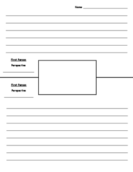 Point of View and Perspective Picture and Writing Activity