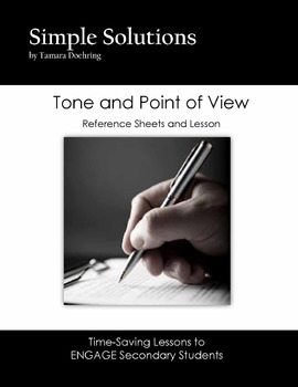 Point of View and Tone Lesson with Reference Sheets