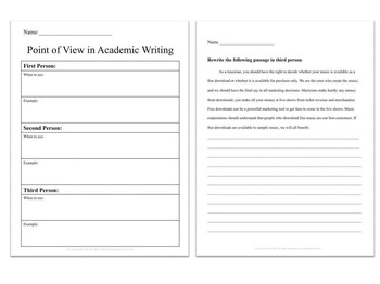 Point of View in Academic Writing
