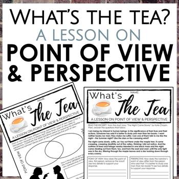 Point of View vs Perspective Worksheets for Secondary ELA