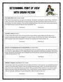 Point of View with Urban Fiction (worksheet)