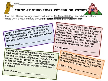 Point of View with the Three Little Pigs: First-Person or Third?