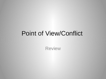 Point of View/Conflict Review
