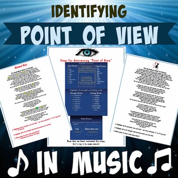 Point of view in Songs with answer key