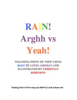 Point of view using book Rain! by Linda Ashman