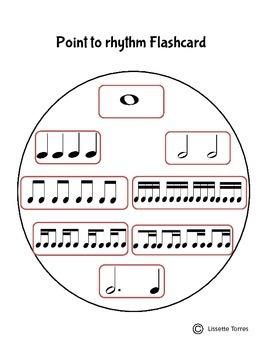 Point to Rhythm Flashcard