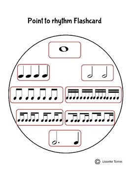 Point to Rhythm Flashcard