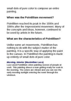 Pointillism Art Impressionism and Science