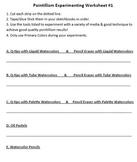 Pointillism Experimenting Worksheet #1