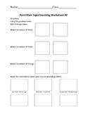 Pointillism Experimenting Worksheet #2