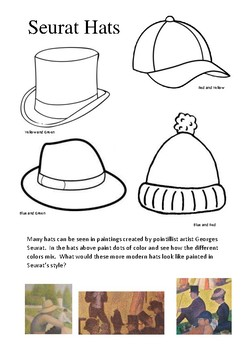 Pointillism Seurat Hats