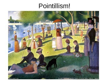 Pointillist Landscapes Powerpoint!