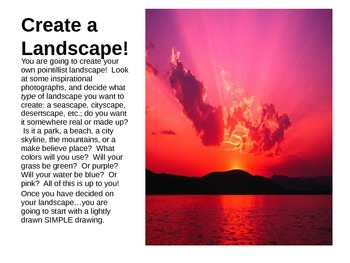 Pointillist Landscapes Powerpoint!