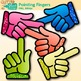 Pointing Fingers Clip Art {Rainbow Glitter Hands for Classroom Management}