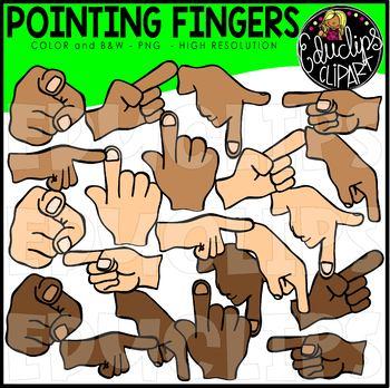 Pointing Fingers Clip Art Bundle {Educlips Clipart}