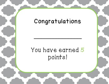 AR Points Earned Reading Certificates (Accelerated Reader type Programs)
