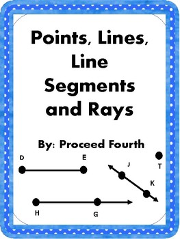 Points, Lines, Line Segments, and Rays