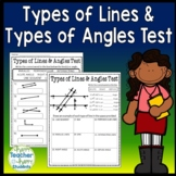 Geometry - Lines, Rays, Points, and Angles Test (Quiz)