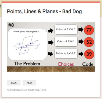 Points, Lines & Planes  – Bad Dog Breakout for Google Classroom!