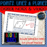 Points, Lines & Planes Digital Notes; Distance Learning, G