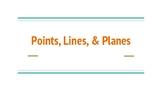 Points, Lines, & Planes Slideshow
