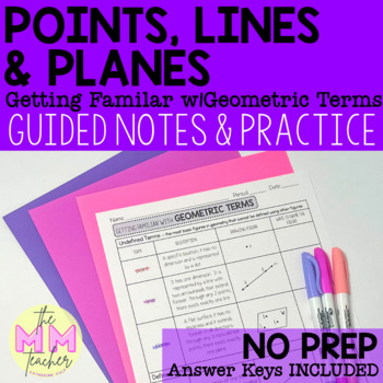 Points, Lines & Planes: Notes & Practice