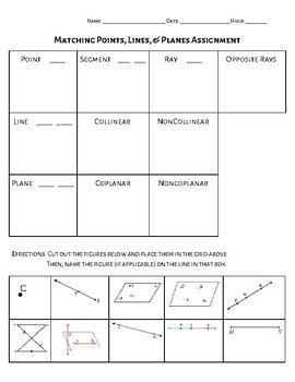 Points, Lines, & Planes Notes & Sort