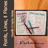 Points, Lines, & Planes Packet GEOMETRY Doodle Notes or Gr
