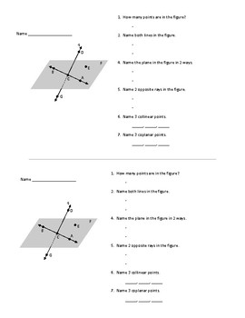 Points, Lines, Planes Quiz