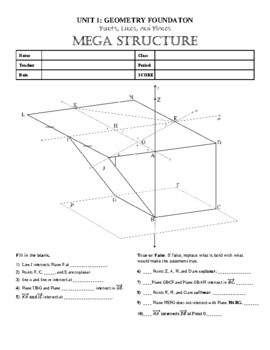 Points, Lines, Planes, Segments, and Rays MEGASTRUCTURE