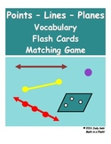 Points-Lines-Planes Vocabulary Flash Cards Matching Game