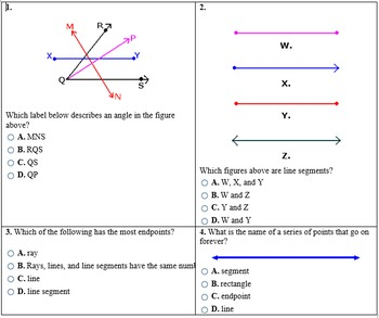 Points, Lines, Segments, Rays